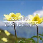 旭川市の整体院ヨシダカイロプラクティックの2021年5月定休日